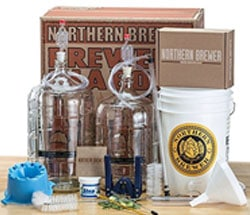 Deluxe-Home-Brewing-Equipment-Starter-Kit---Glass-Carboys---with-Chinook-IPA-Beer-Recipe-Kit